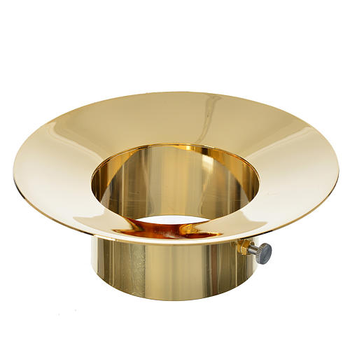 Sliding wax collector in brass for Paschal candles, 8cm diameter 1