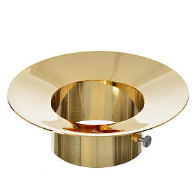 Sliding wax collector in brass for Paschal candles, 8cm diameter s1