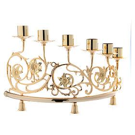 Couple candélabre 6 bagues laiton moulé 30x50 cm style baroque s2