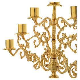 Candelabra for seven lights in gold brass s3