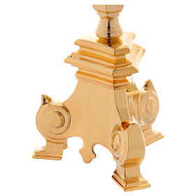 Baroque candle holder, classic style 3 flames 100 cm s6