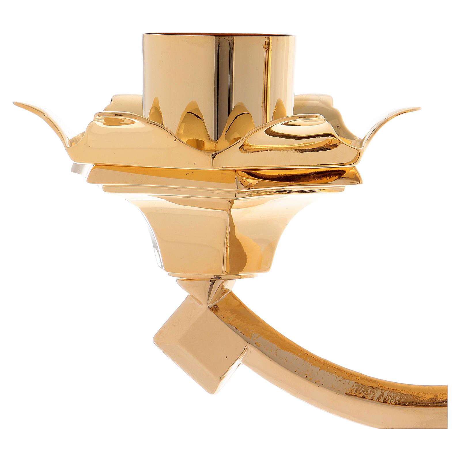 Candeliere barocco classico a 3 fiamme 100 cm 4