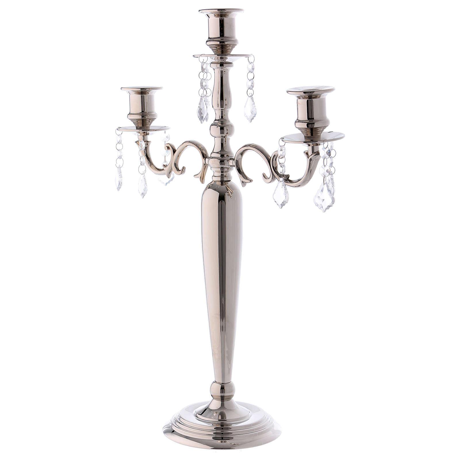Kandelabr świecznik Nikel 3 ramiona śr. 38 cm h 55 cm 4