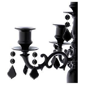 Candeabro portavelas Black 5 llamas diám. 38 cm h. 55 cm s2