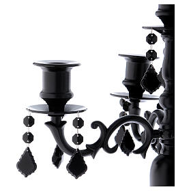 Candelabro portacandele Black 5 fiamme diam. 38 cm h. 55 cm s2