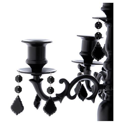 Candelabro portacandele Black 5 fiamme diam. 38 cm h. 55 cm 2