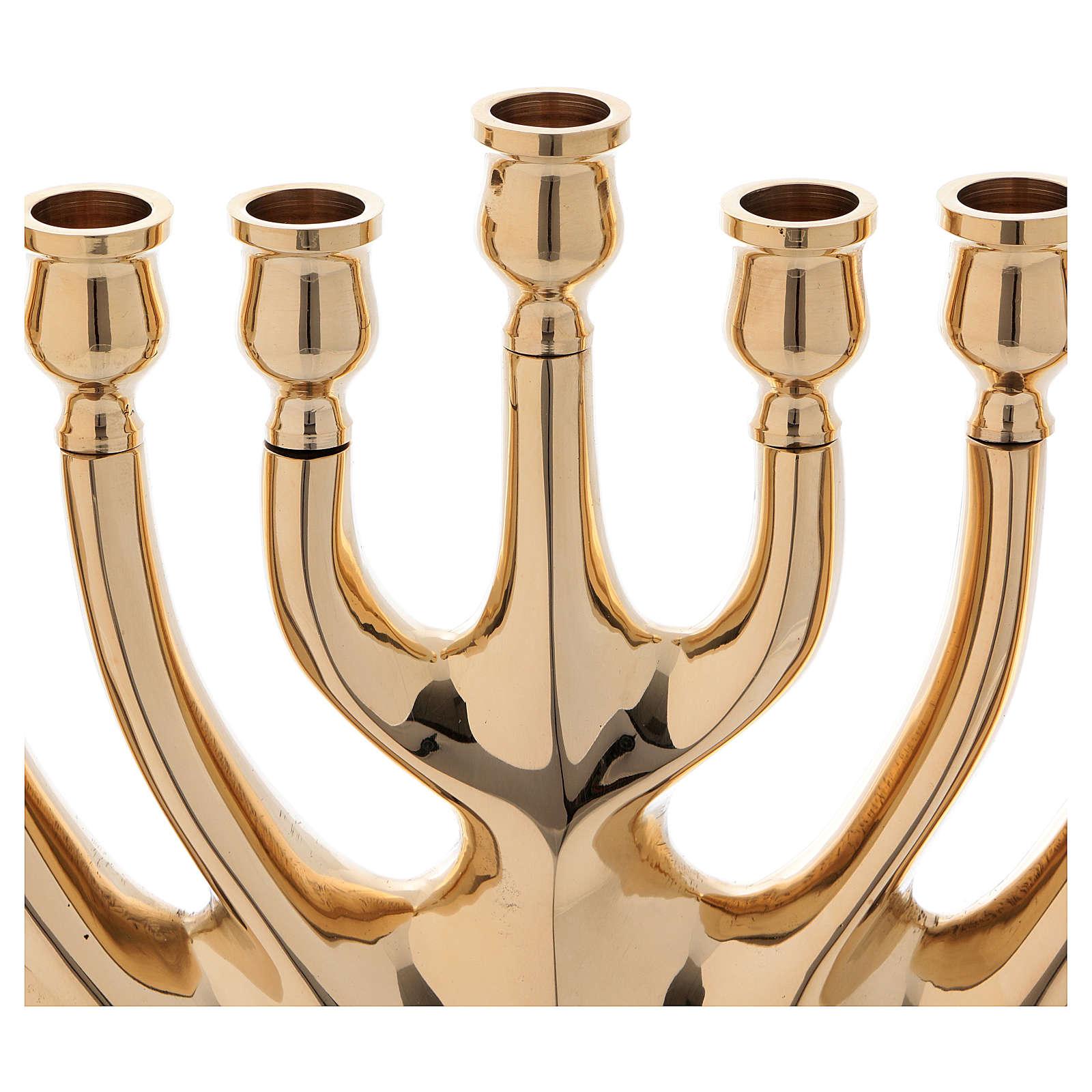Kandelabr 9 ramion mosiądz pozłacany 4