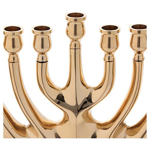 Kandelabr 9 ramion mosiądz pozłacany 2