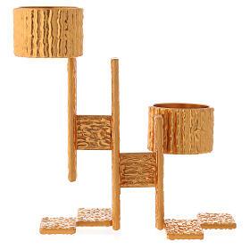 Lámpara de pared de misa de latón fundido 2 llamas s1