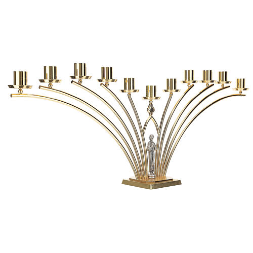Chandelier de table en laiton avec saint 11 bras h 30 cm 4