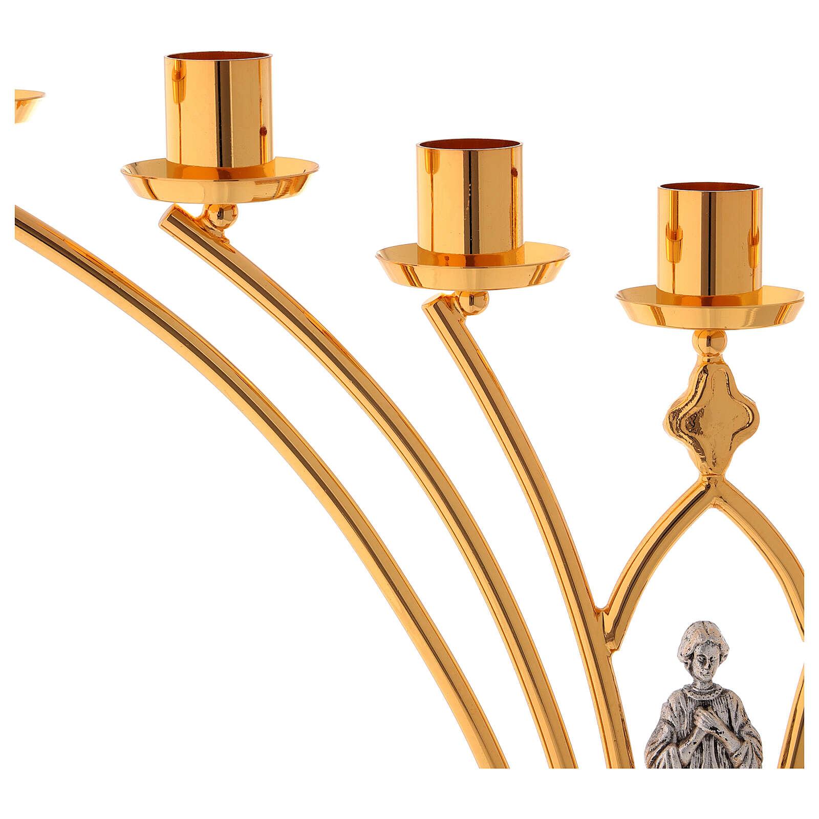 Lumiere per mensa in ottone a 7 fiamme h. 35 cm 4