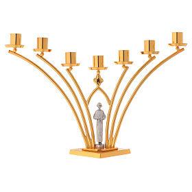 Lumiere per mensa in ottone a 7 fiamme h. 35 cm s7