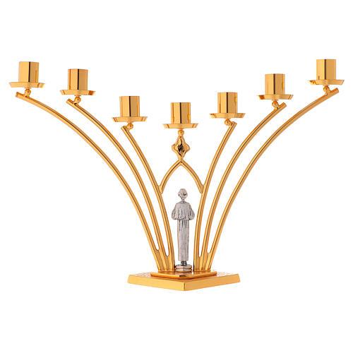 Lumiere per mensa in ottone a 7 fiamme h. 35 cm 7