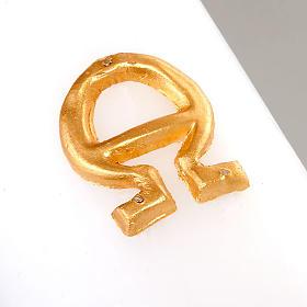 Cirio pascual decoración cruz sobre dorado s3