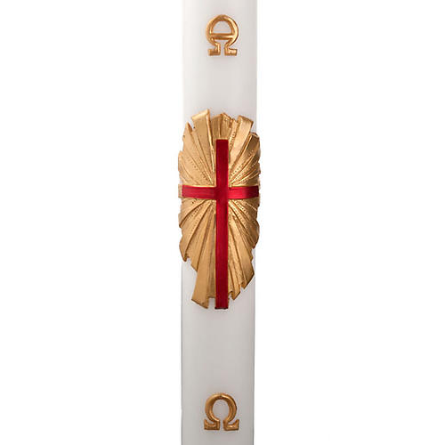 Cirio pascual decoración cruz sobre dorado 1
