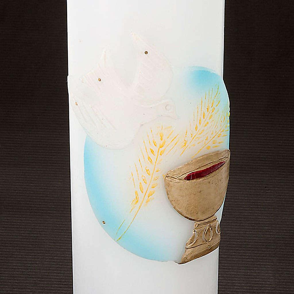 Cirios blancos con decoración 3