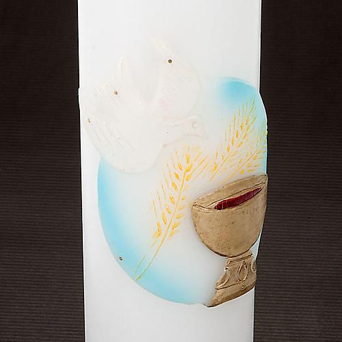 Cirios blancos con decoración 4