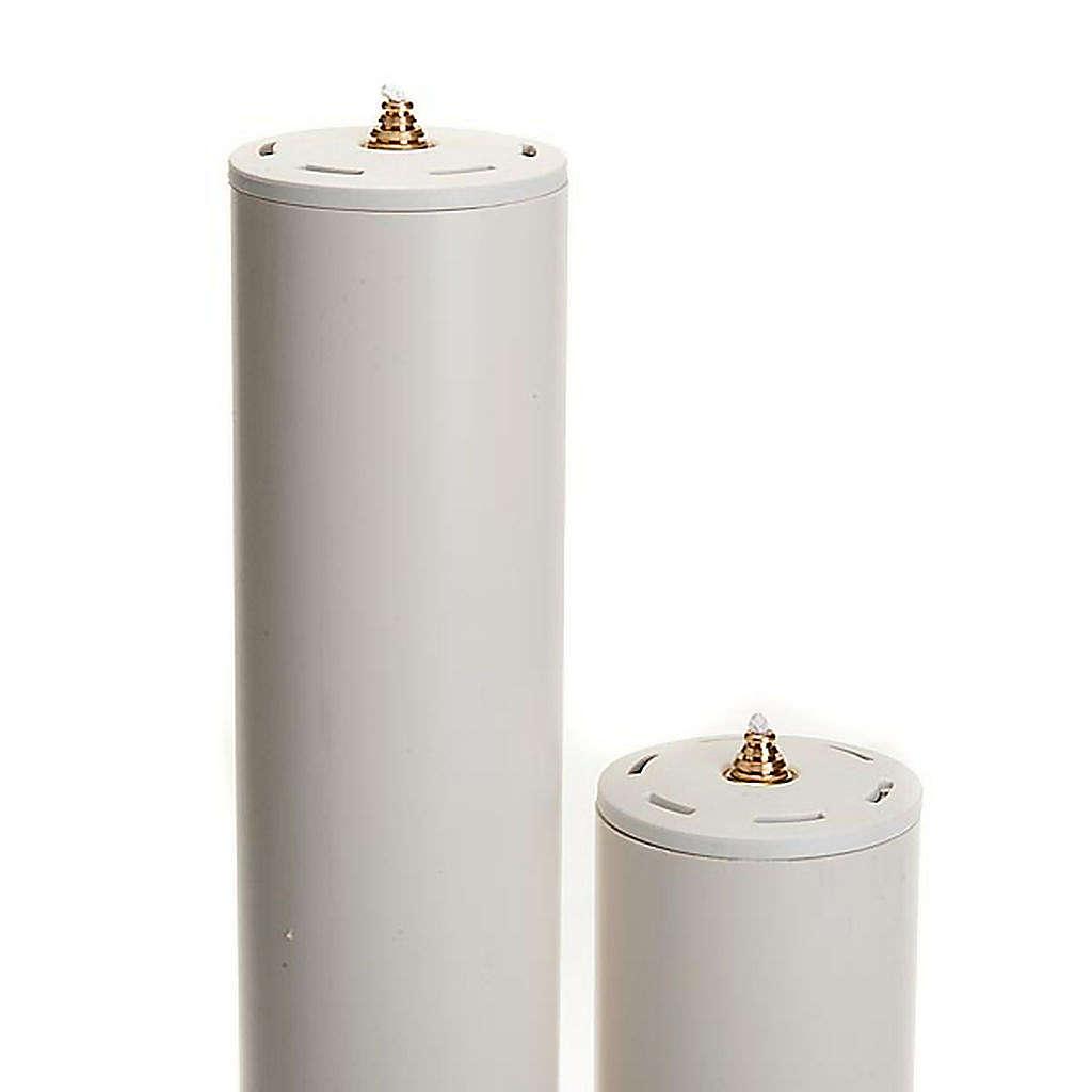 Kerze Flüßigwachs mit Kartusche Durcmesser 8 cm 3