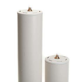 Kerze Flüßigwachs mit Kartusche Durcmesser 8 cm s2