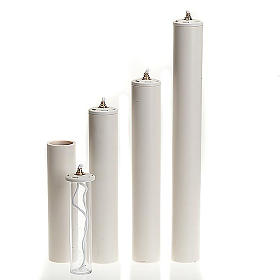 Candles, large candles: Liquid candle with refillable container, 5 cm diam.
