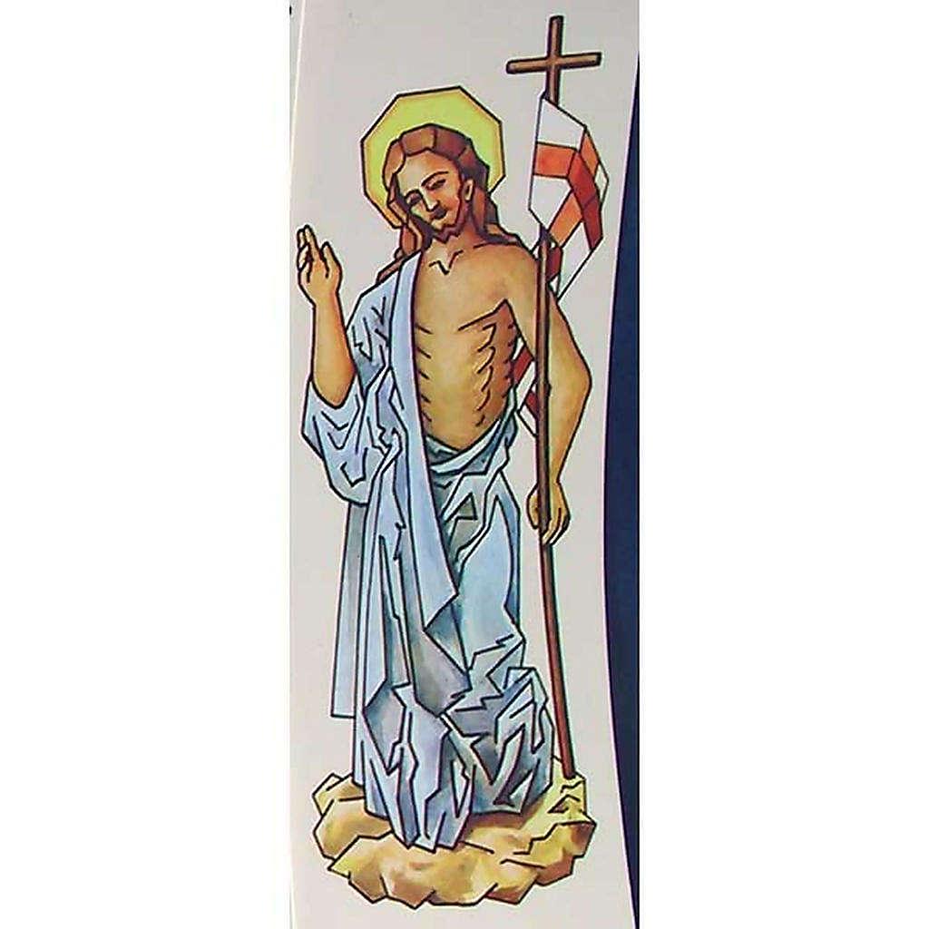 Cierge Pascal: décalcomanie Christ ressuscité 20cm 3