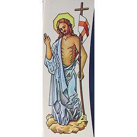 Decalcomania per cero pasquale Cristo Risorto 20 cm s1