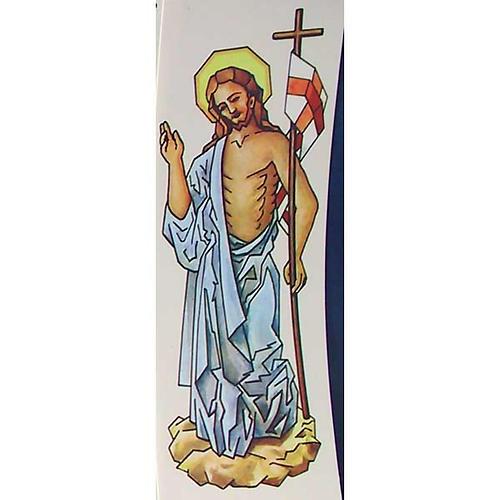 Decalcomania per cero pasquale Cristo Risorto 20 cm 1