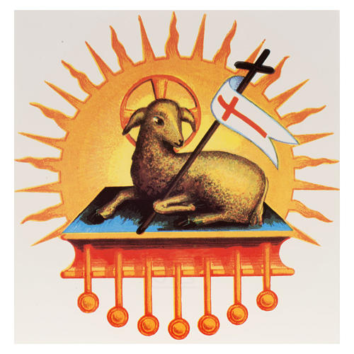 Religious Decal with Resurrected Lamb.for Paschal candle 1