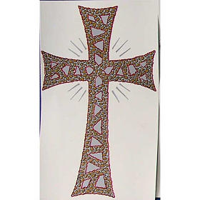 Candles, large candles: Decalcomania for Paschal candle with glorious cross.