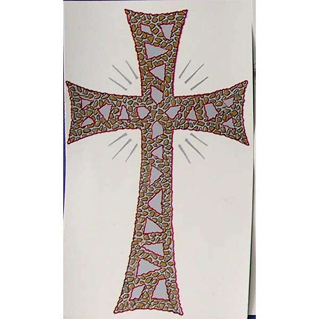Cierge Pascal: décalcomanie croix glorieuse 3