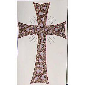 Bougies, cierges, chandelles: Cierge Pascal: décalcomanie croix glorieuse
