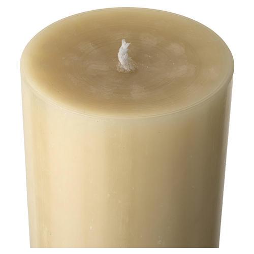 Cero pasquale cera d'api Risorto fondo bianco argento 5