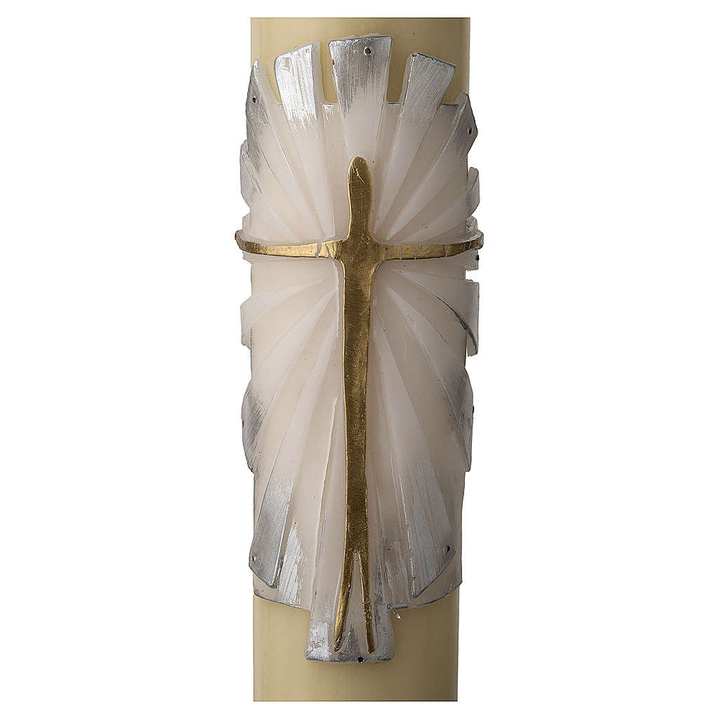 Paschal Candle with Risen Jesus decoration 3