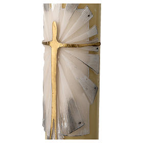Paschal Candle with Risen Jesus decoration s4