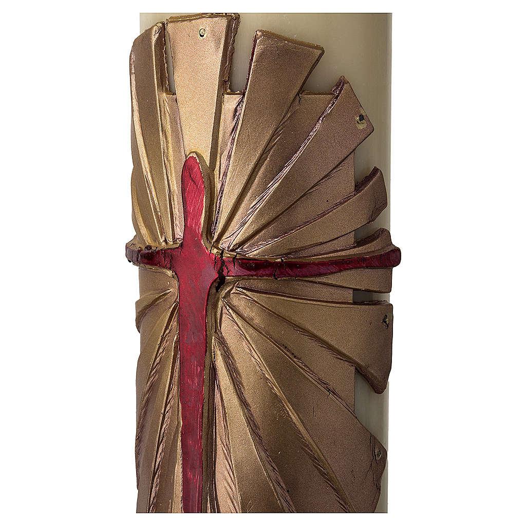 Osterkerze Auferstandener Christus gold 3