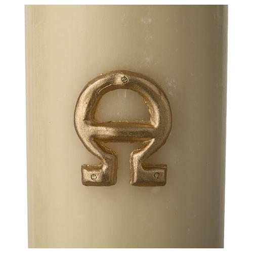 Paschal Candle, Risen Jesus with golden background 6