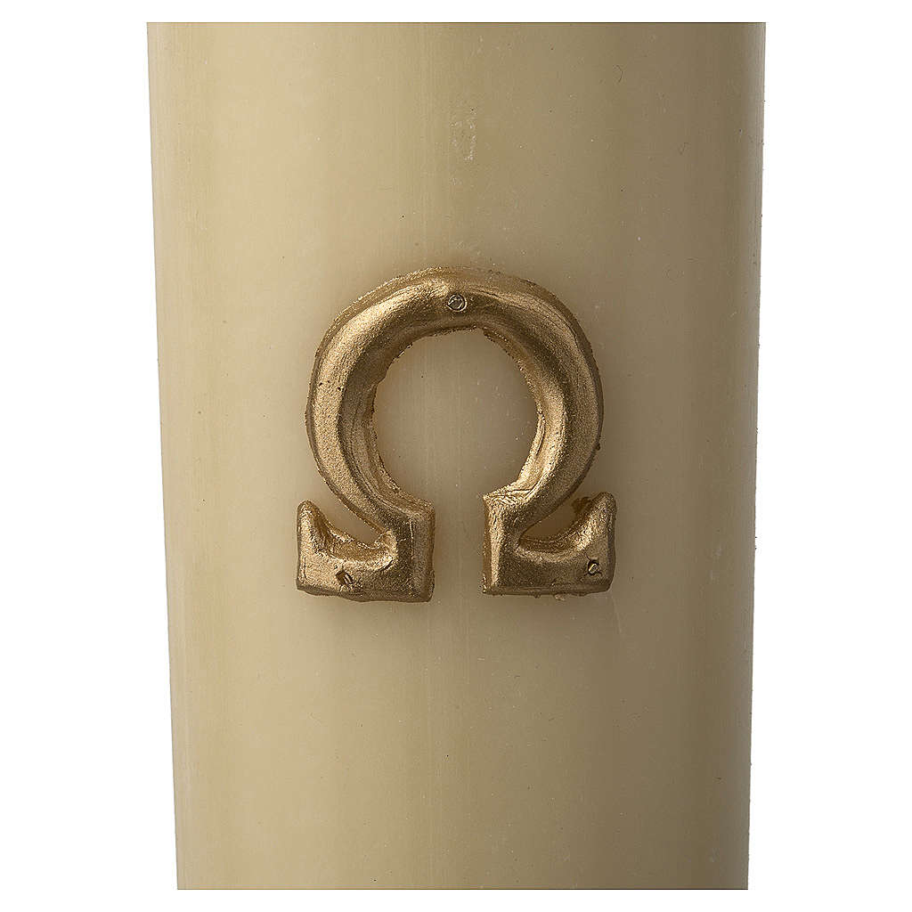 Paschal Candle, Risen Jesus with golden background 3