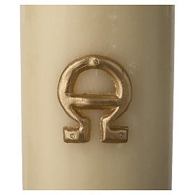 Paschal Candle, Risen Jesus with golden background s6