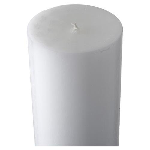 Cero pasquale bianco croce fondo giallo 5