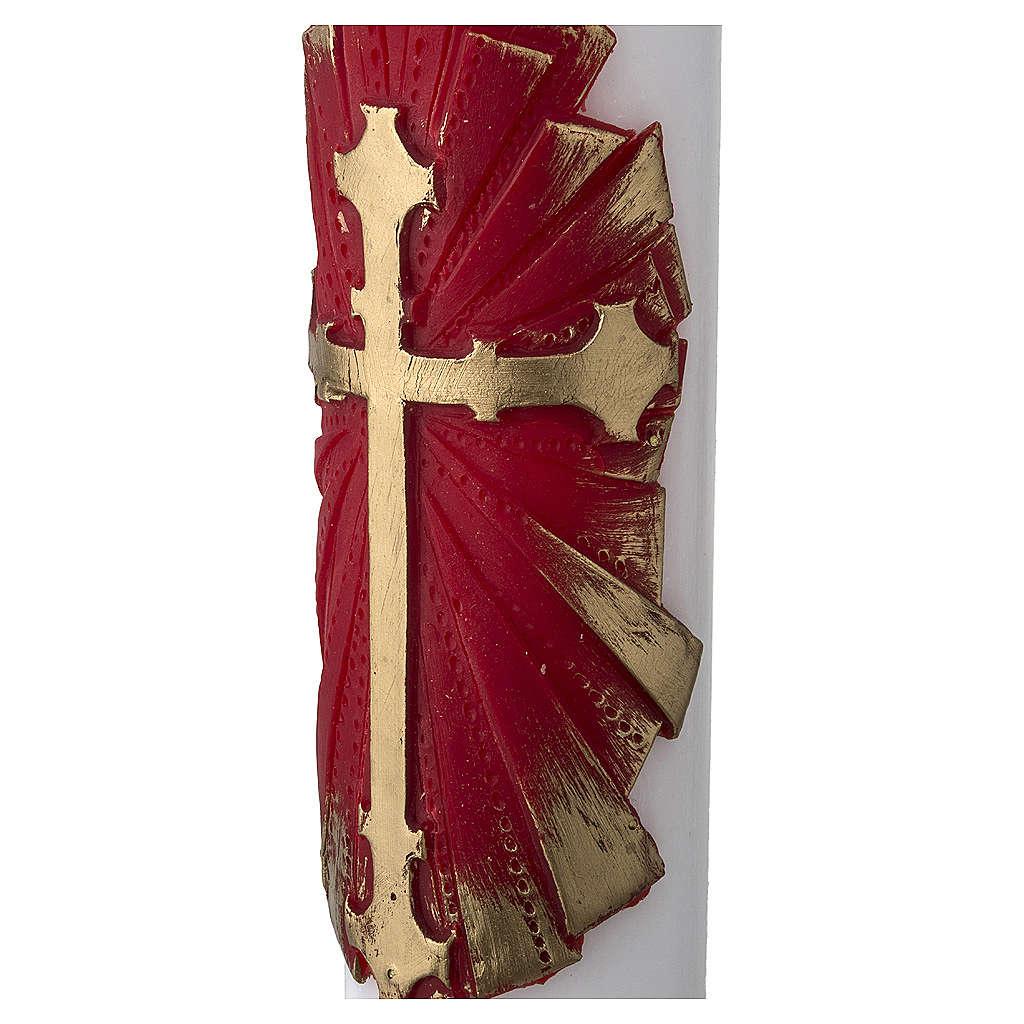 Cirio Pascual blanco Cruz antigua 3