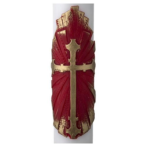 Cirio Pascual blanco Cruz antigua 2