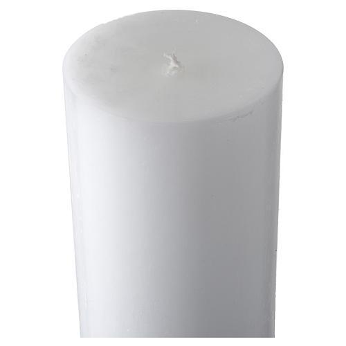 Cero pasquale bianco croce antica 5