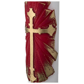 White Paschal Candle, antique cross s4