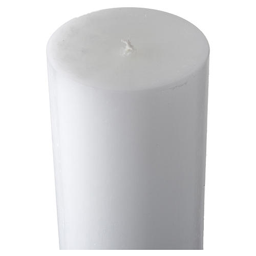 White Paschal Candle, antique cross 5