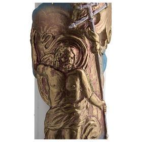 Círio pascal branco Cristo Ressuscitado 8x120 cm s4
