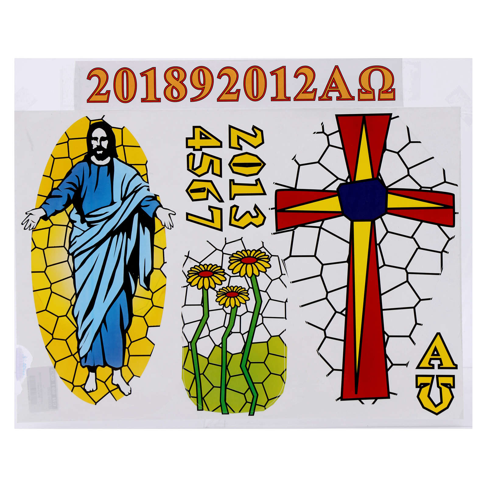 Stickers for Paschal candle, set E. 3