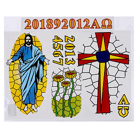 Stickers for Paschal candle, set E. s1