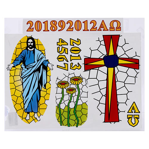 Stickers for Paschal candle, set E. 1