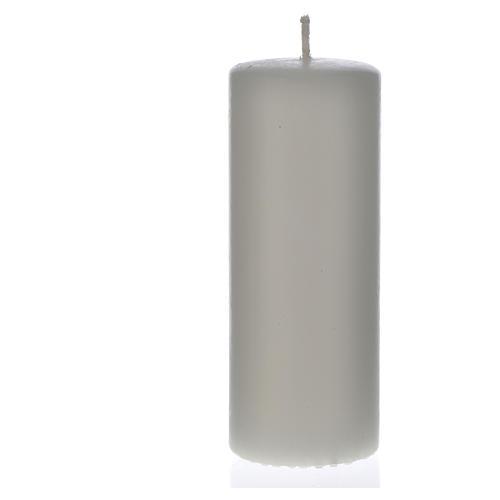 Cierge cire blanche 130x50mm (confection) 1