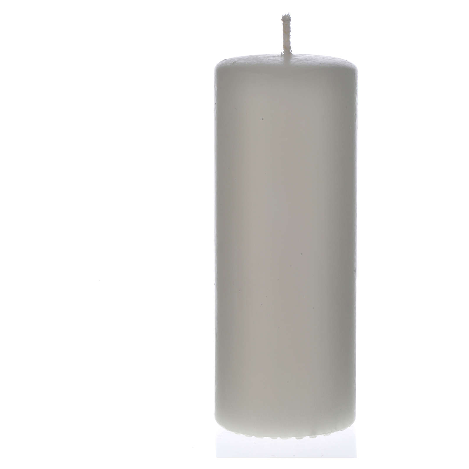 Candela bianca 130x50 mm (confezione) 3